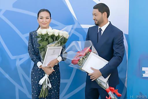 Кенес Ракишев и Асель Тасмагамбетова